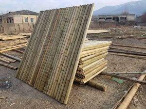 paneles de caña de bambú