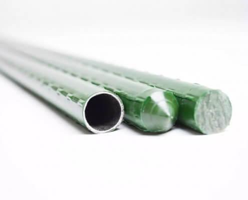 Calibre tutores de acero plastificado
