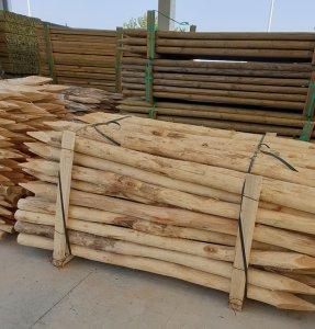 postes de madera de acacia para agricultura