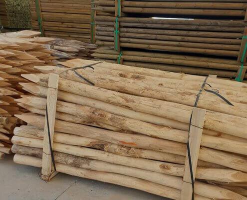 postes de acacia para agricultura