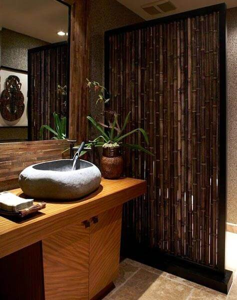 mamparas decoradas con bambú