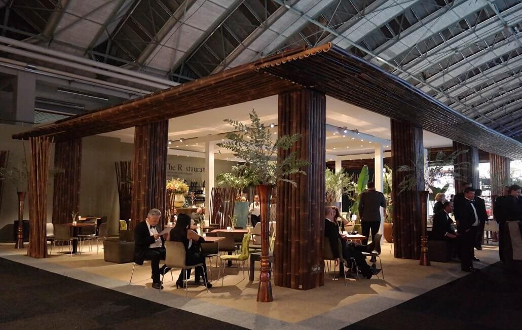 decoración con bambú