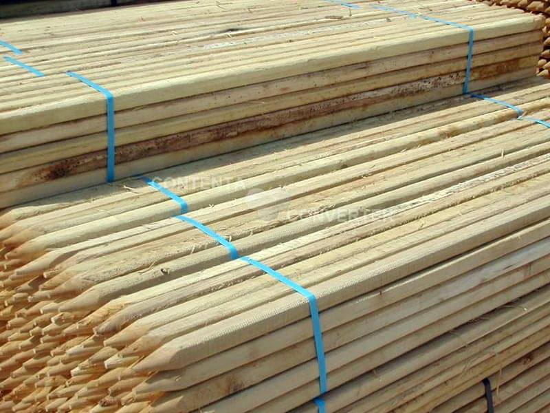 postes de acacia cuadrados