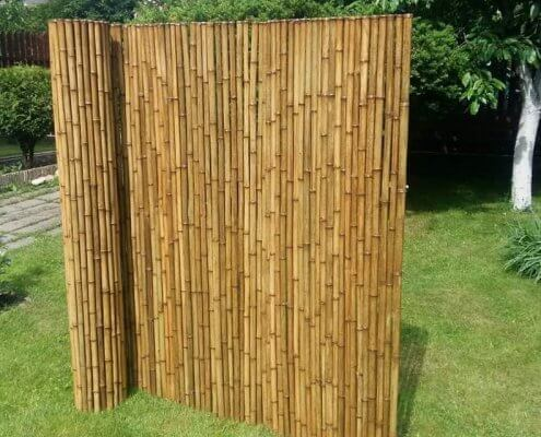 rollos de caña de bambú