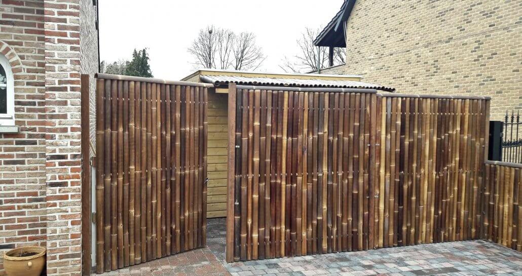 bambú puerta