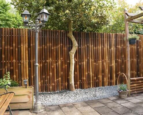 valla de bambú cerramiento